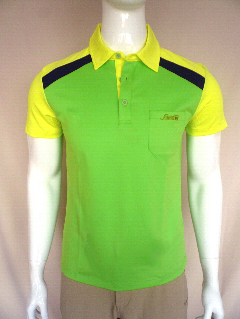 Sinhotek negative ion fabric sport wear function wear for Neon green shirts for men